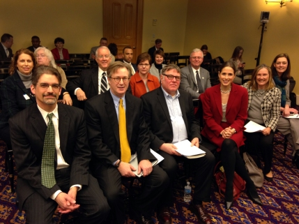 Members of the Endow Ohio Group sit in the house commitee meeting waiting to stand and present