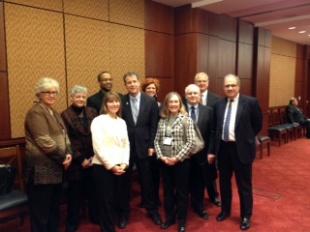 Philanthropy Ohio group photo with Senator Brown