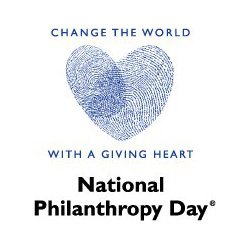 fingerprint heart: National Philanthropy Day image