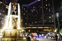 Fountain Square downtown Cincinnati
