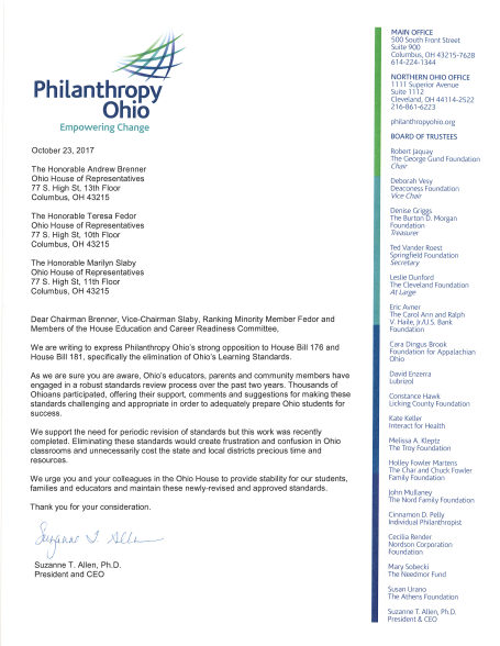 Oct. 2017_Philanthropy Ohio letter